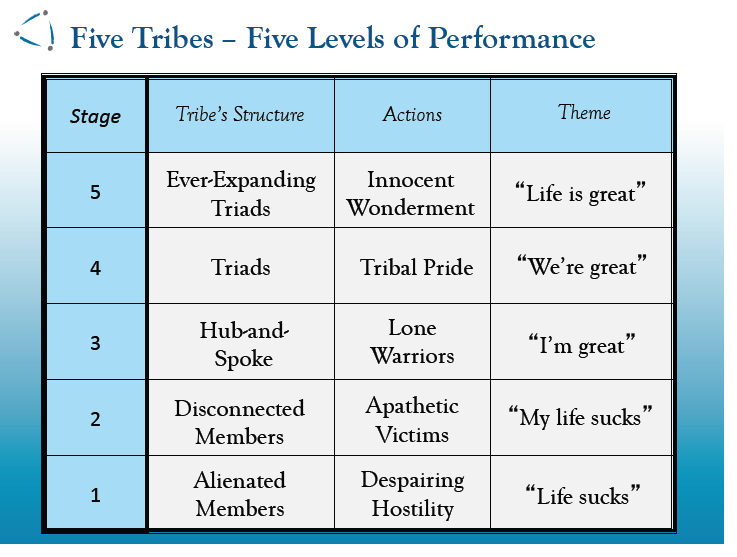 Tribal Leadership: What are the 5 Stages of Tribes?